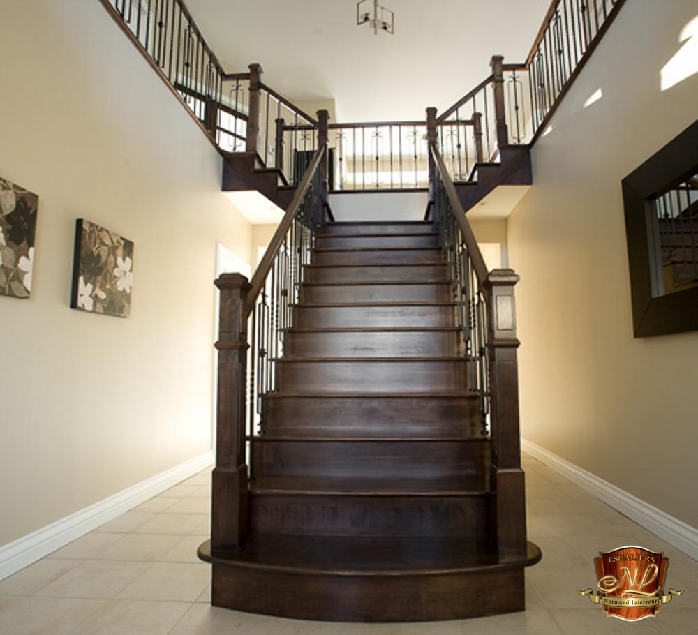 R alisation d escaliers sur mesure qu bec for Escalier en terre